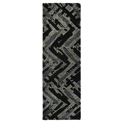 Montage Black 3 ft. x 8 ft. Runner Rug