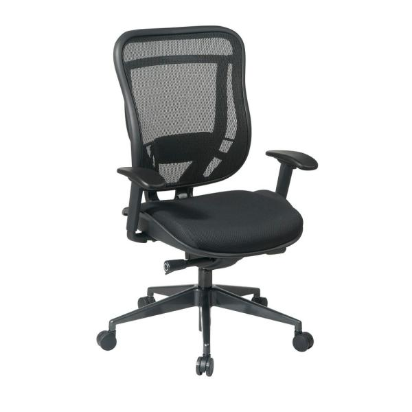 Office Star Products 818 Series Black High Back Executive Office Chair