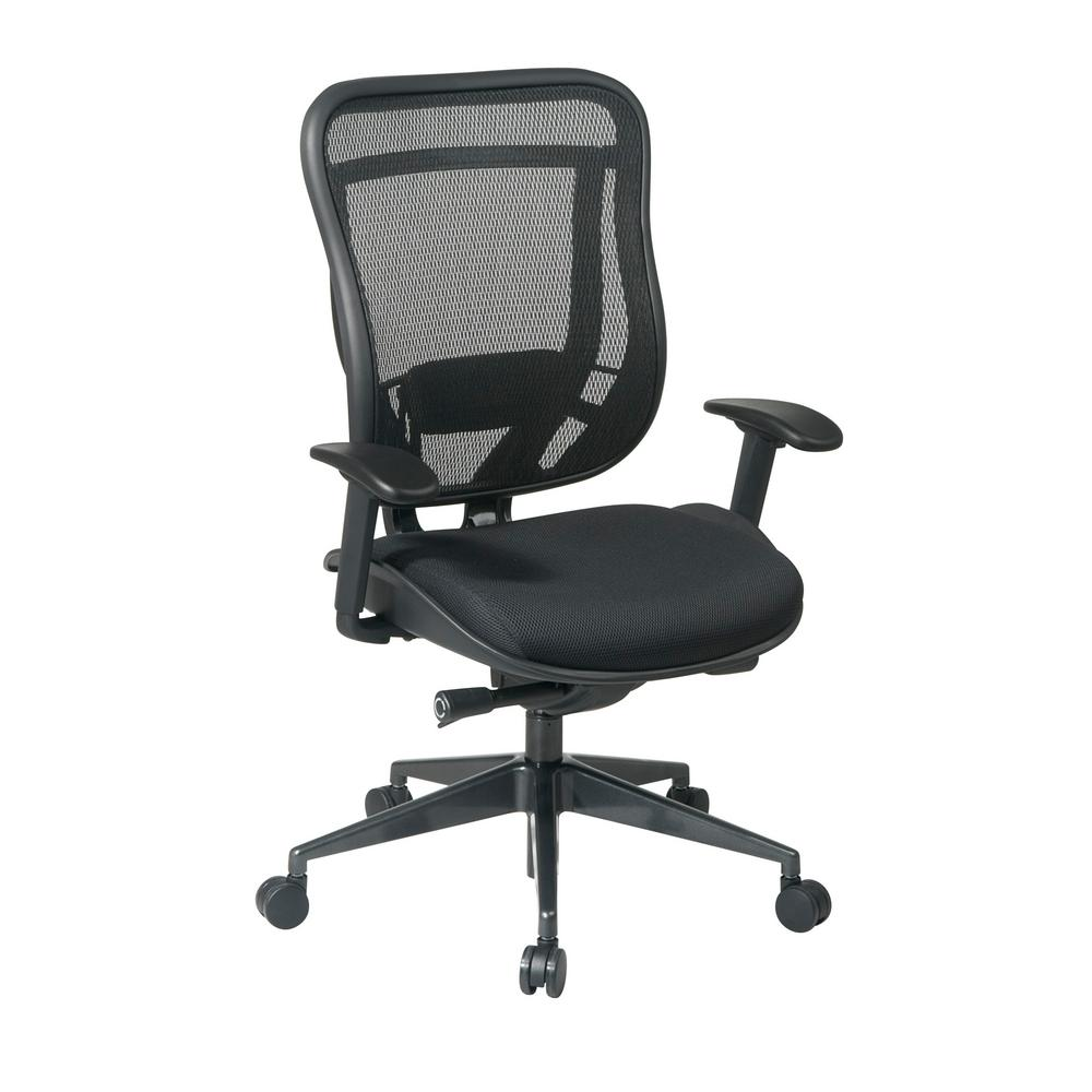 Space Seating 818 Series Black High Back Executive Office