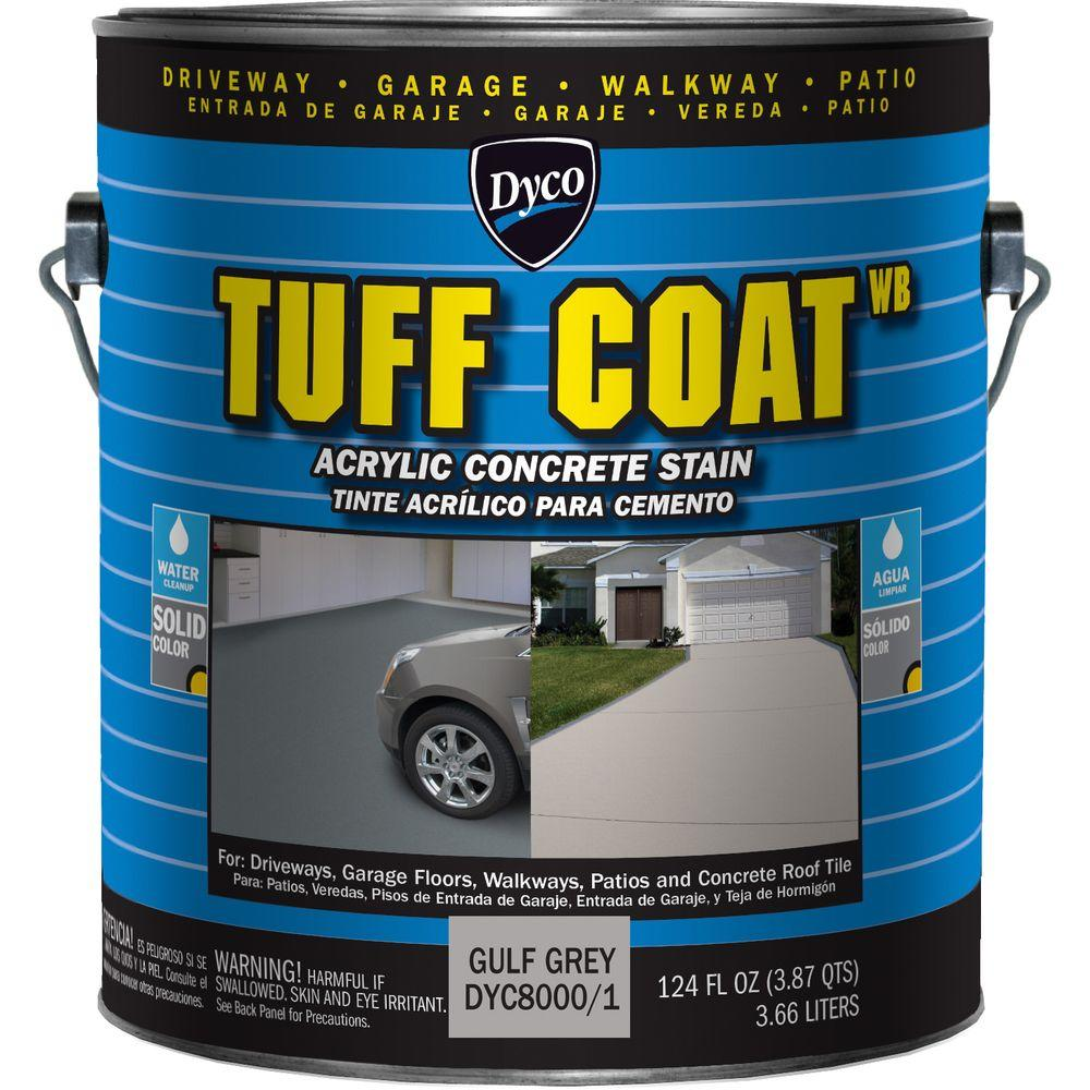 Dyco Tuff Coat 1 gal. 8000 Gulf Grey Low Sheen Exterior Waterborne Acrylic Concrete Stain