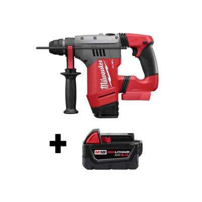M18 FUEL 18-Volt Lithium-Ion Brushless Cordless 1-1/8 in. SDS-Plus Rotary Hammer with Free M18 5.0Ah Battery