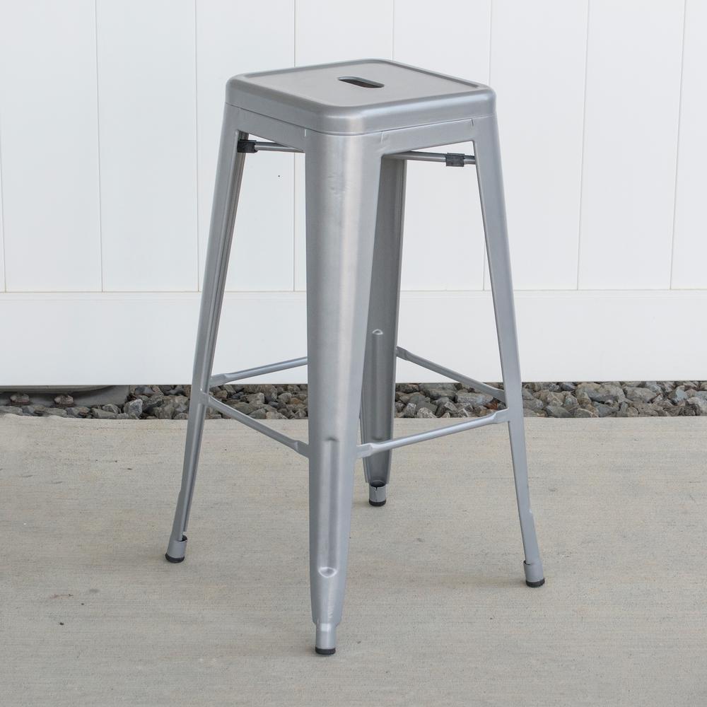 Sensational Amerihome Loft Style 30 In Stackable Metal Bar Stool In Inzonedesignstudio Interior Chair Design Inzonedesignstudiocom
