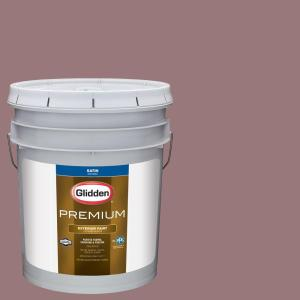 Glidden Premium 1 Gal Hdgr37 Dusty Mauve Semi Gloss Latex Exterior Paint Hdgr37px 01s The Home Depot
