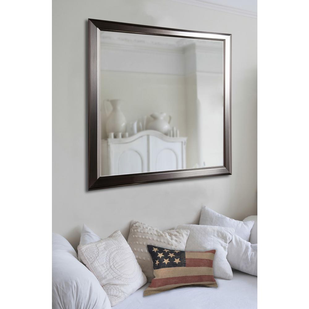 20 In X 24 Ava Sleek Silver Non Beveled Decorative Wall Mirror