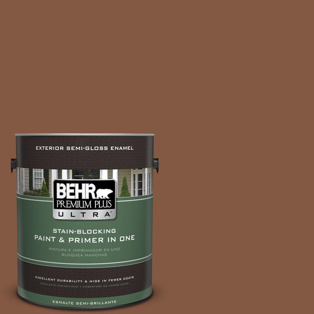 BEHR Premium Plus Ultra 1-gal. #BXC-42 Bricktone Semi-Gloss Enamel Exterior Paint