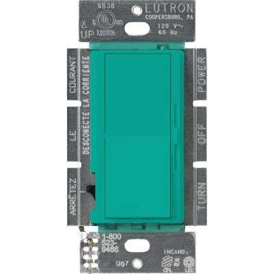 Diva 250W C.L Dimmer Switch for Dimmable LED, Halogen and Incandescent Bulbs, Single-Pole or 3-Way, Turquoise