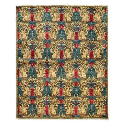 Suzani Yellow 5 ft. x 6 ft. Indoor Area Rug