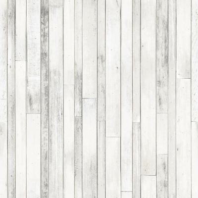 56.4 sq. ft. Azelma Ivory Wood Strippable Wallpaper