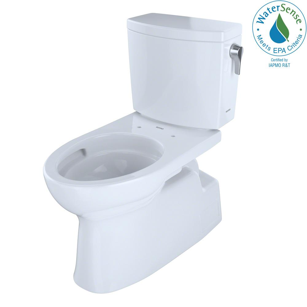 TOTO Vespin II 2-Piece 1.0 GPF Single Flush Elongated Toilet with ...