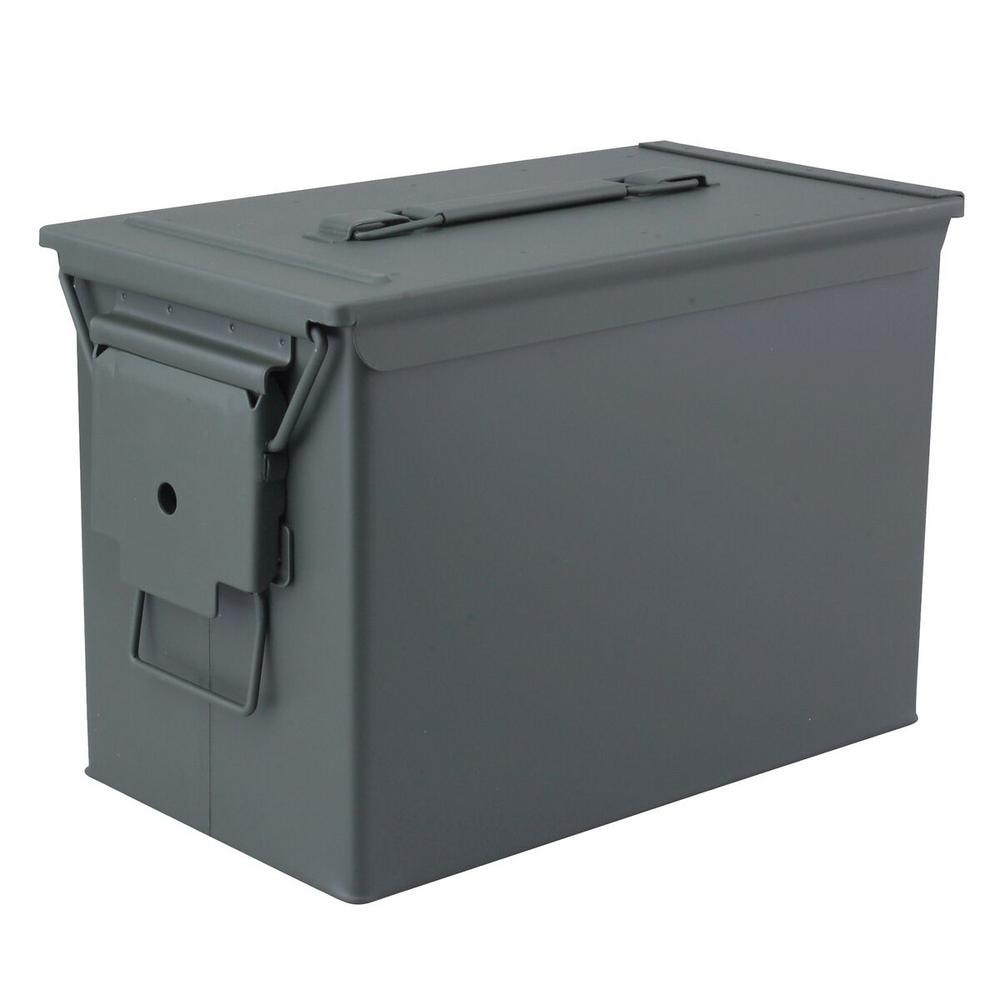 MAGNUM Military Grade Heavy-Duty 0.50 Cal Metal Tactical Ammo Storage Box in O.D. Green  sc 1 st  Home Depot & MAGNUM Military Grade Heavy-Duty 0.50 Cal Metal Tactical Ammo ...
