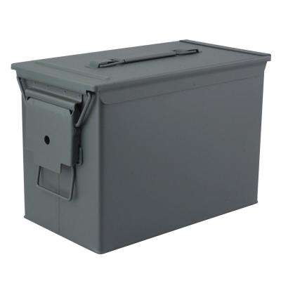 Military Grade Heavy-Duty 0.50 Cal Metal Tactical Ammo Storage Box in O.D. Green