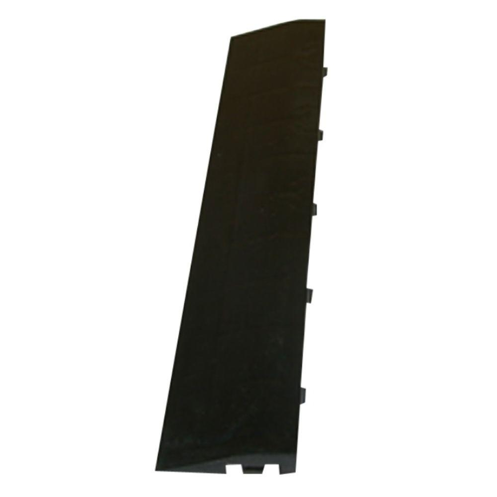 Greatmats Click Tile Black 2-3/8 in. x 12.14 in. x 5/8 in. Male Border Ramp without Loops (Case of 4)