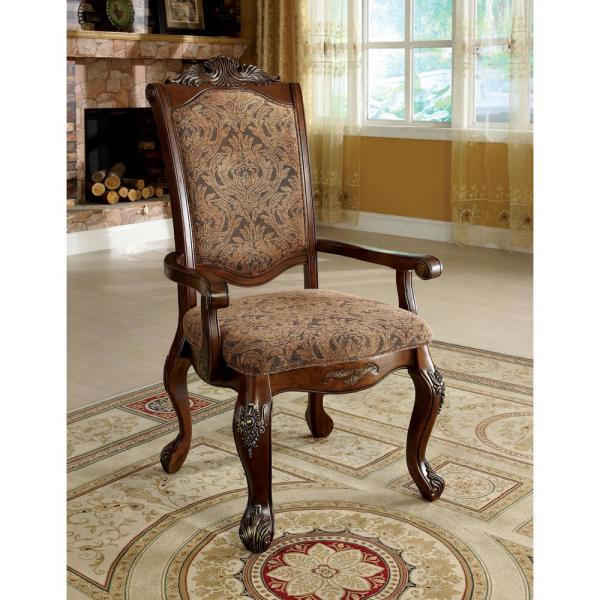 William's Home Furnishing Cromwell Antique Cherry Traditional Style Arm Chair