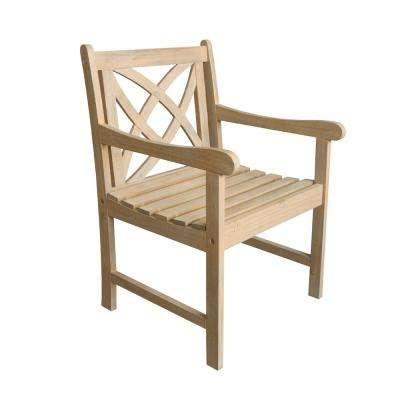 Beverly Sand-Splashed Wood Outdoor Dining Chair