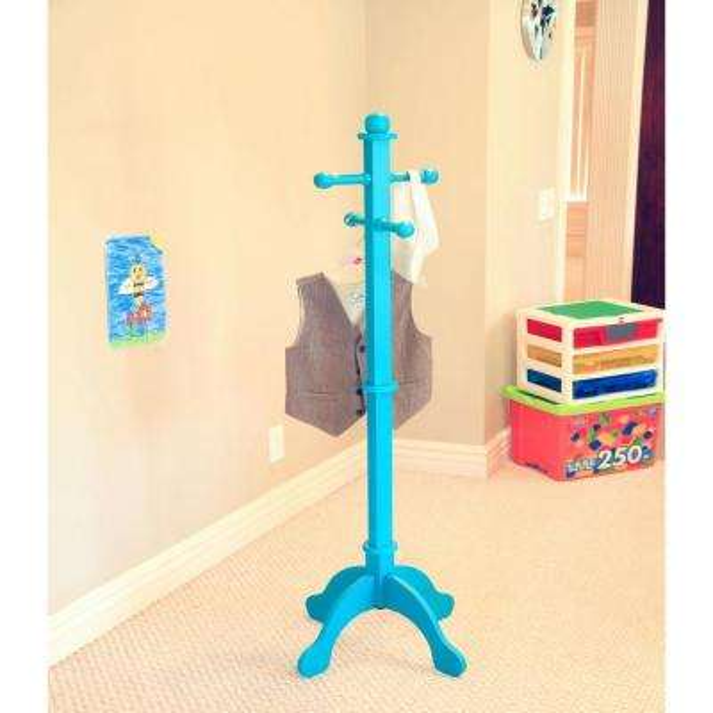 4-Hook Kid's Coat Rack in Blue