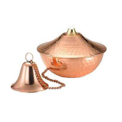 3 in. Polished Copper Medium Oil Lamp