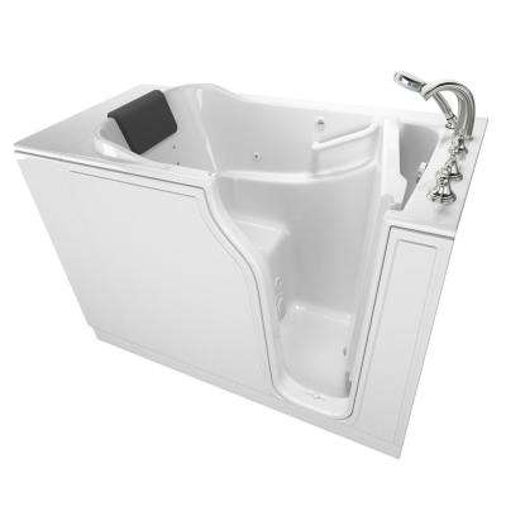Gelcoat Premium Series 52 in. x 30 in. Right Hand Walk-In Whirlpool Bathtub inWhite