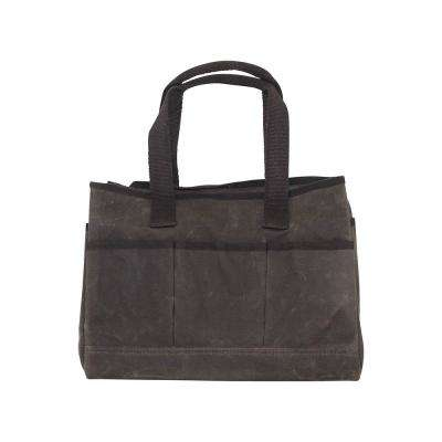 Waxed Canvas Olive Utility Tote Bag