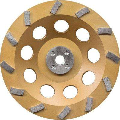 7 in. Turbo 12-Segment Anti-Vibration Diamond Cup Wheel