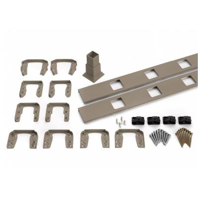 Transcend 67.5 in. Composite Gravel Path Horizontal Square Baluster Accessory Kit