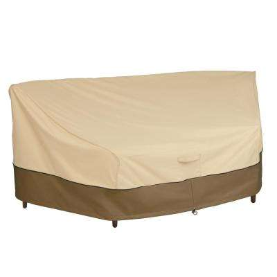 Veranda 46 in. L (Front) x 90 in. L (Back) x 34 in. D x 32 in. H Curved Sofa Sectional Cover