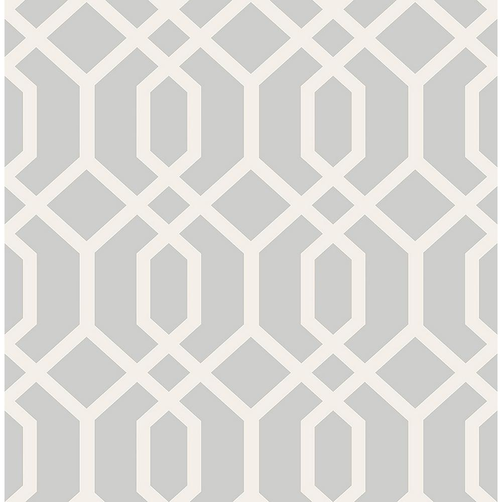 Brewster trellis grey montauk wallpaper fd23271 the home for Black and grey wallpaper designs