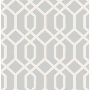 Brewster Trellis Grey Montauk Wallpaper by Brewster