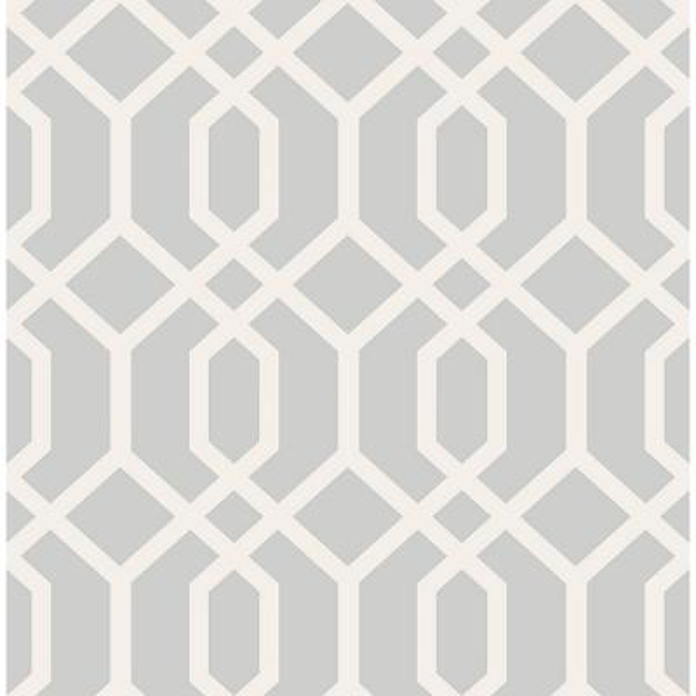 Trellis Grey Montauk Wallpaper