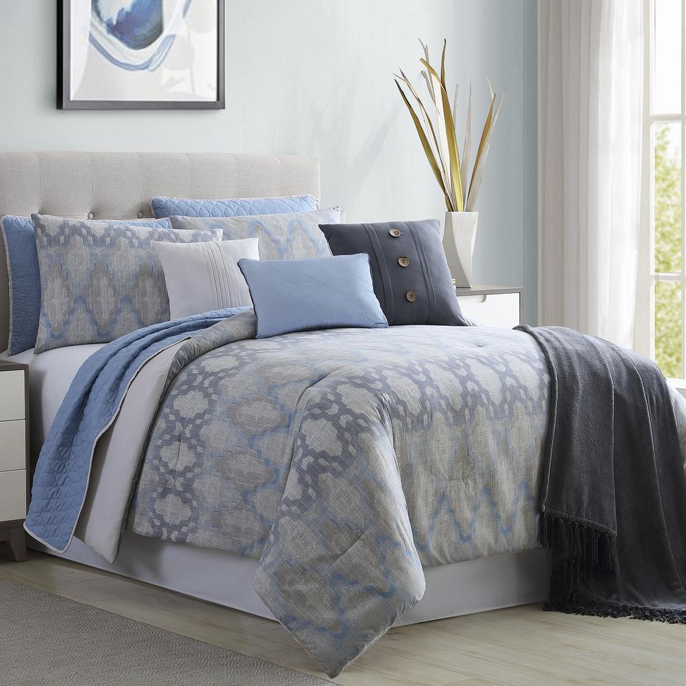 Langdon 10-Piece Multi-Color Queen Comforter/Coverlet Set