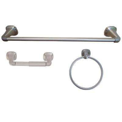 Belding Collection 3-Piece Bathroom Hardware Kit in Satin Nickel