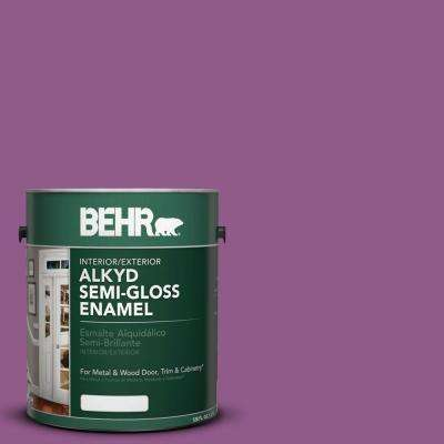 1-gal. #OSHA 4 Safety Purple Semi-Gloss Enamel Alkyd Interior/Exterior Paint