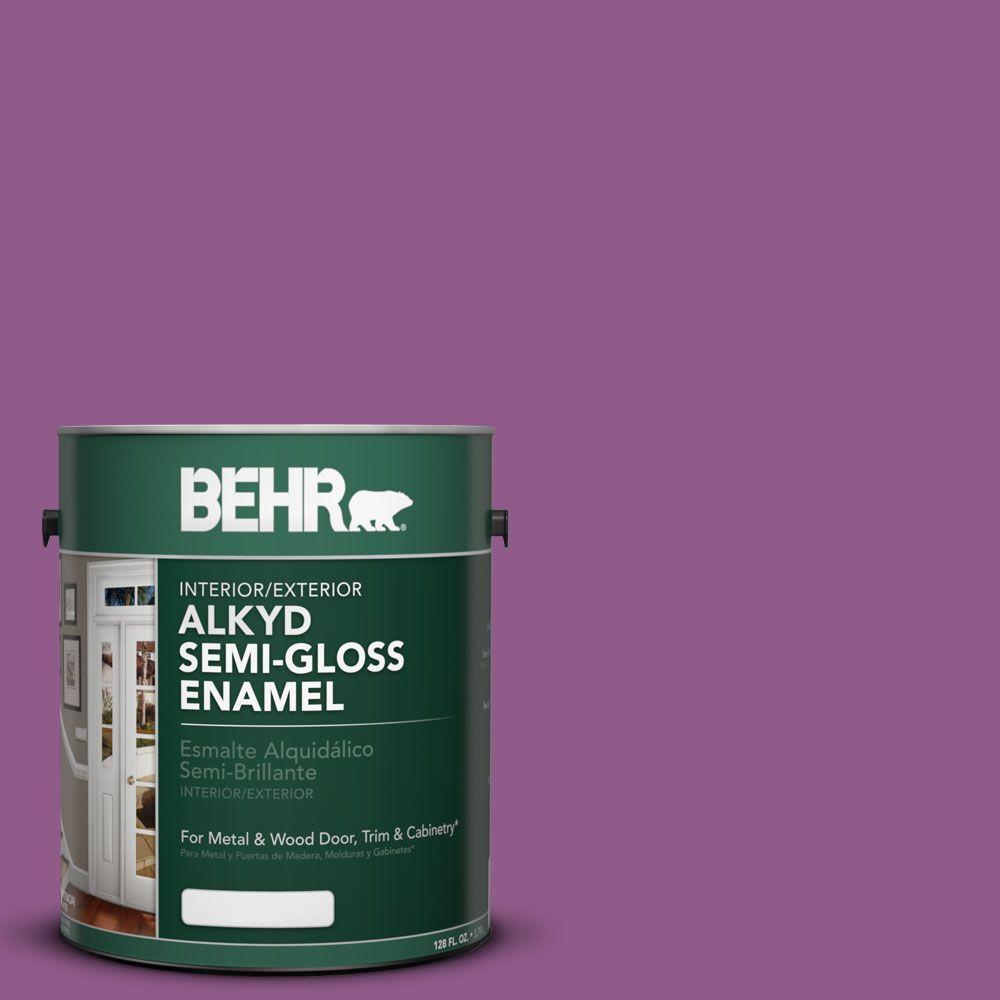 1 gal. #OSHA 4 Safety Purple Semi-Gloss Enamel Alkyd Interior/Exterior Paint