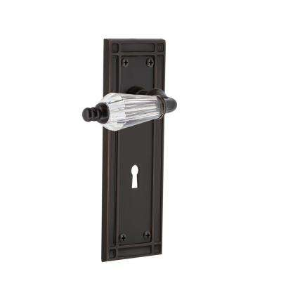Mission Plate with Keyhole 2-3/8 in. Backset Timeless Bronze Passage Hall/Closet Parlor Lever