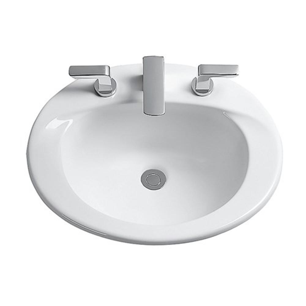 TOTO Supreme 20 in. Drop-In Sink Basin with Single Faucet Hole in ...