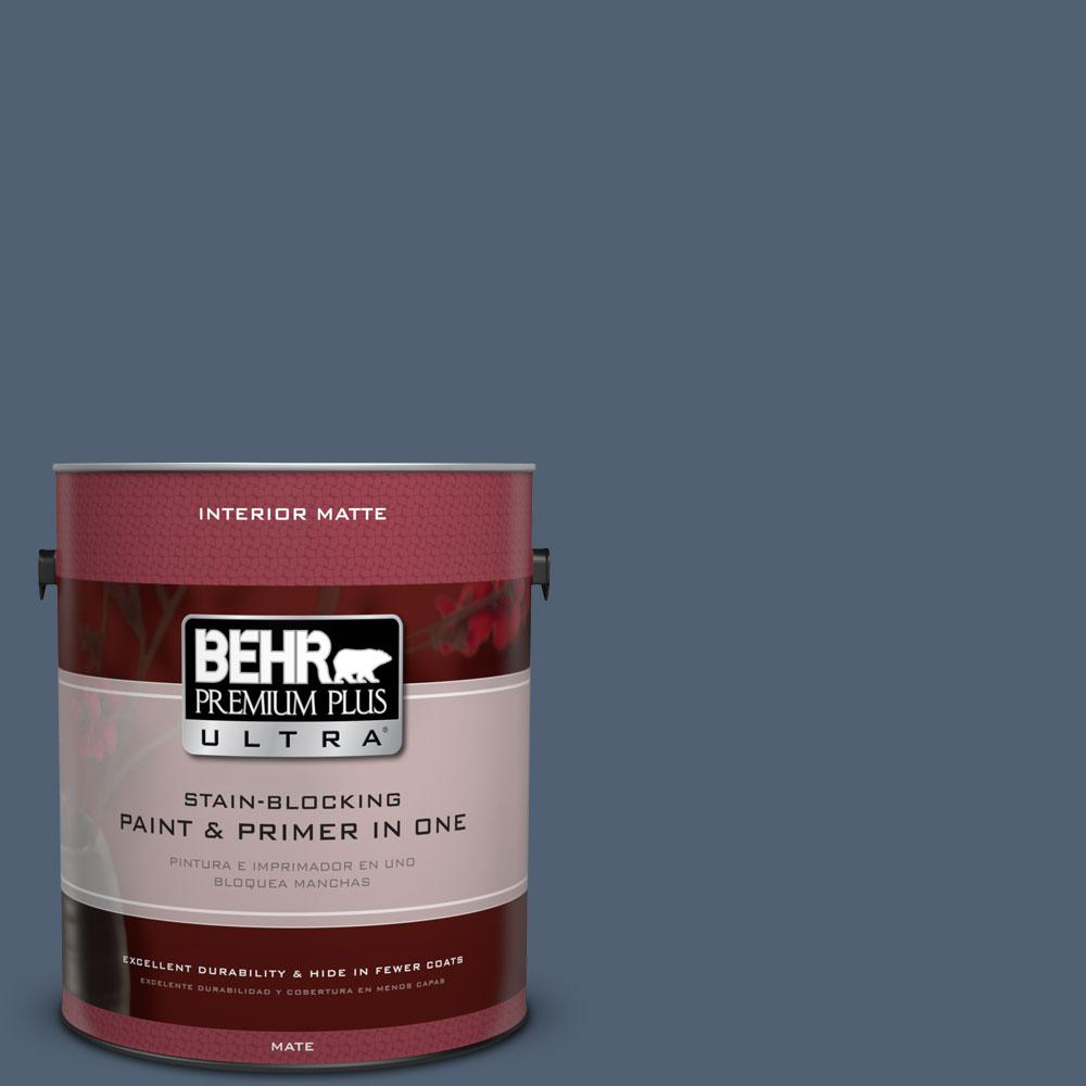 BEHR Premium Plus Ultra 1 gal. #PPU14-19 English Channel Flat/Matte Interior Paint