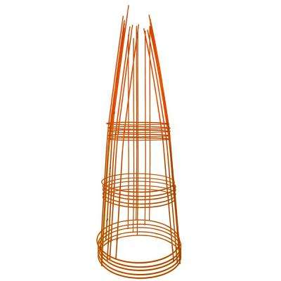 42 in. Heavy-Duty Orange Tomato Cage (5-Pack)