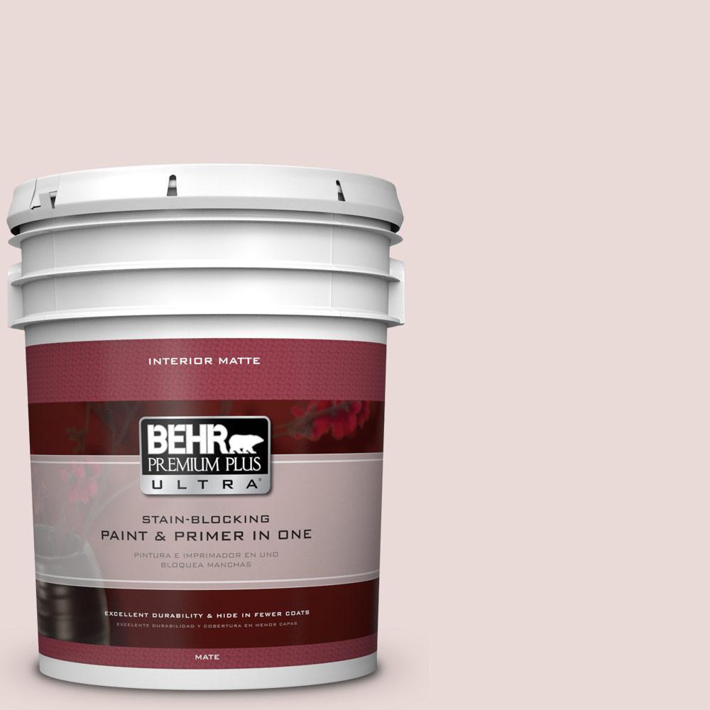 BEHR Premium Plus Ultra 5 gal. #PPU17-7 Vienna Lace Flat/Matte Interior Paint