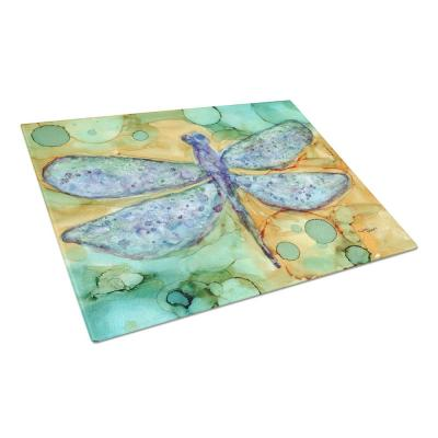 Abstract Dragonfly Tempered Glass Large Cutting Board