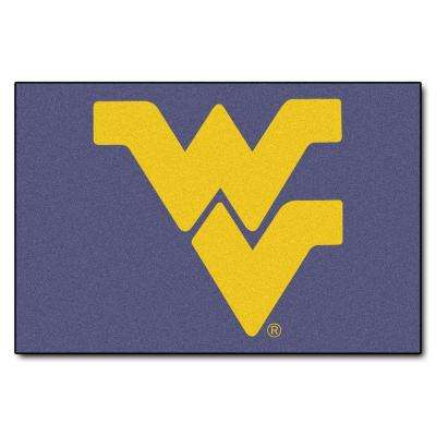 West Virginia University 19 in. x 30 in. Accent Rug