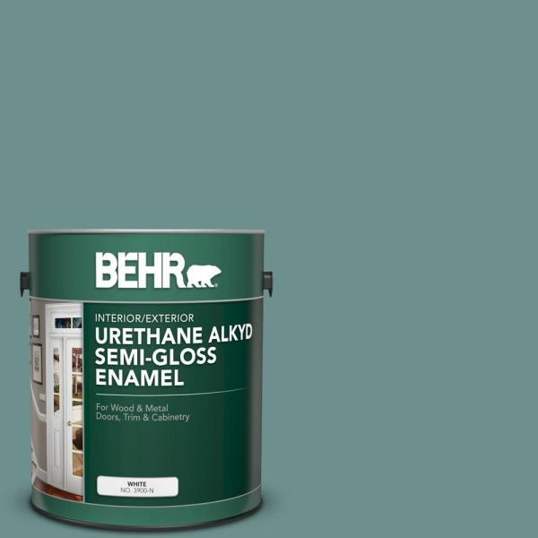 Reviews For Behr 1 Gal Ppu12 03 Dragonfly Urethane Alkyd Semi Gloss Enamel Interior Exterior Paint 393001 The Home Depot
