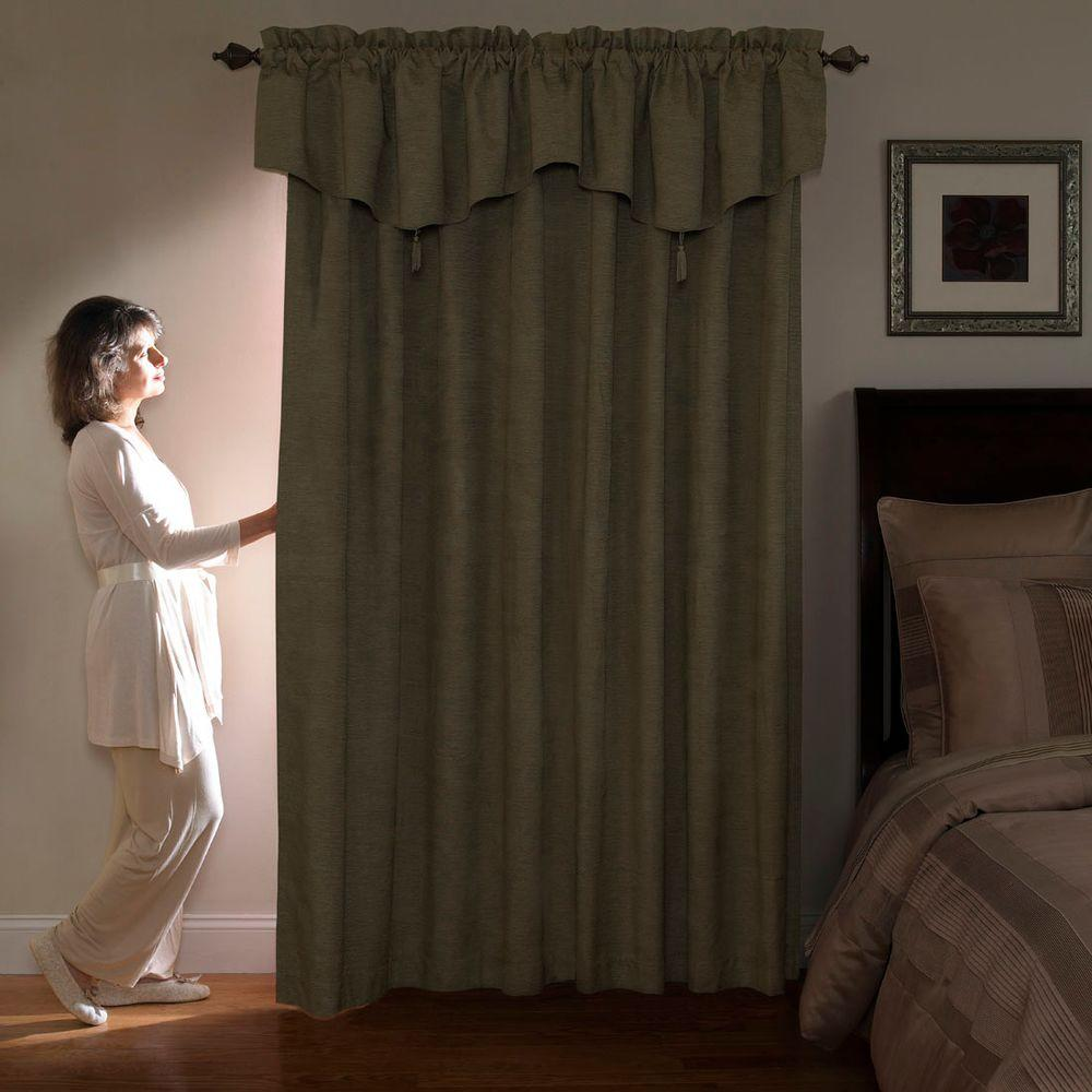 National Sleep Foundation Room Darkening Grey Polyester Curtain Panel, 95 in.