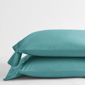 Company Cotton Seaside Solid 300-Thread Count Percale King Pillowcase (Set of 2)