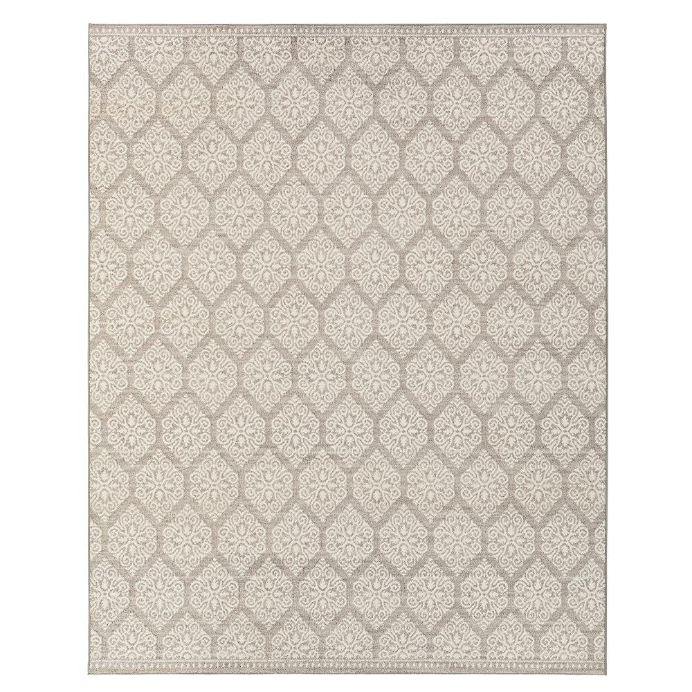 Home Decorators Collection Taurus Grey Cream 8 Ft X 10 Area Rug 543143 The Depot