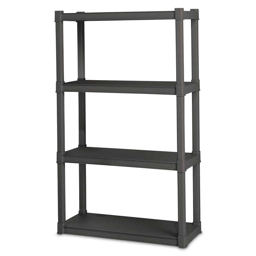 Sterilite 36 in. W x 75.125 in. H x 18 in. D 5-Shelf Plastic Shelving Unit-01553V01 - The Home Depot  sc 1 st  Home Depot & Sterilite 36 in. W x 75.125 in. H x 18 in. D 5-Shelf Plastic ...