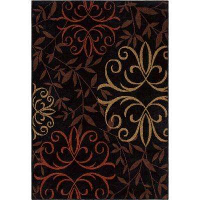 Medley Black Medallion 8 ft. x 11 ft. Indoor/Outdoor Area Rug