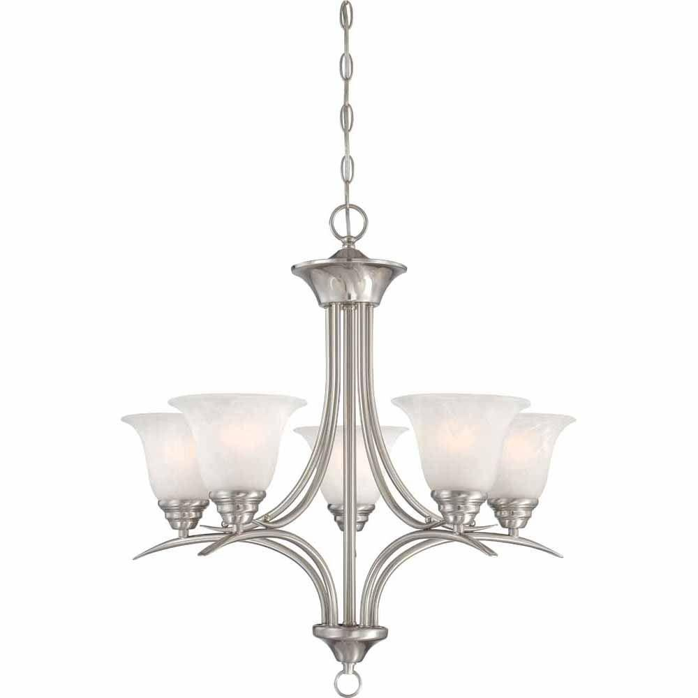 Lighting Fixtures For Home: Filament Design Lenor 5-Light Brushed Nickel Incandescent