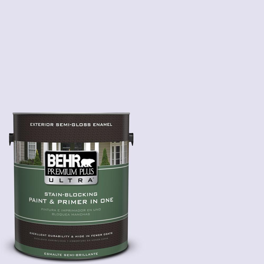 BEHR Premium Plus Ultra 1-gal. #P560-1 Blissful Semi-Gloss Enamel Exterior Paint