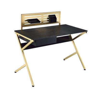 Black and Gold Bolles Writing Desk