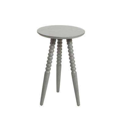 Allison Grey Turned Leg Accent Table