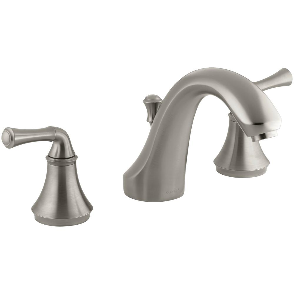 MOEN Eva 8 in. Widespread 2-Handle High-Arc Bathroom Faucet Trim ...